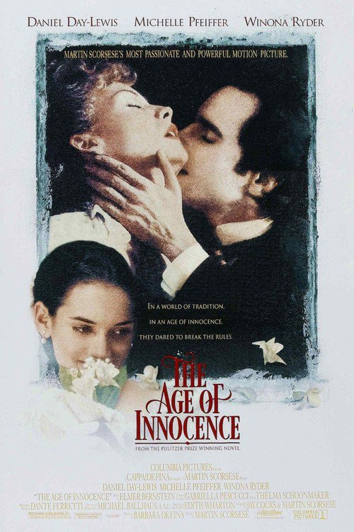 "Poster for the movie ""The Age of Innocence"""