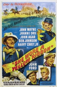 "Poster for the movie ""She Wore a Yellow Ribbon"""