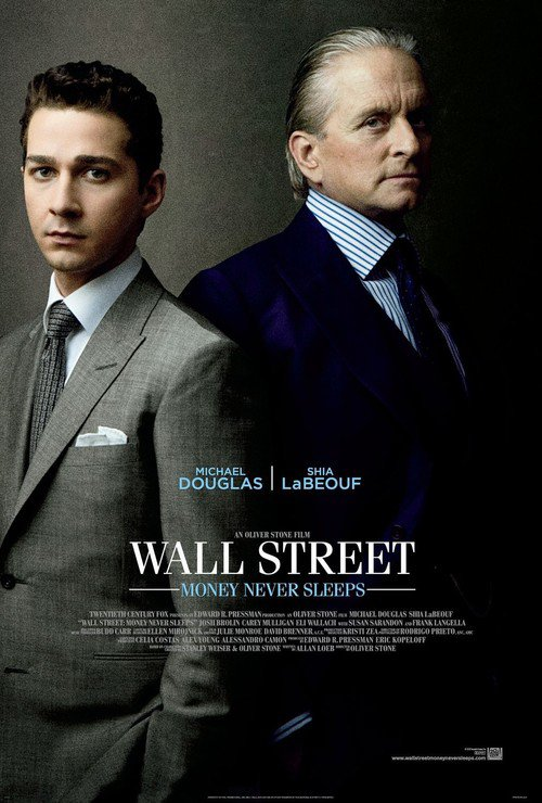"""Poster for the movie """"Wall Street: Money Never Sleeps"""""""