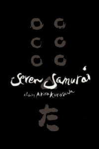 "Poster for the movie ""Seven Samurai"""