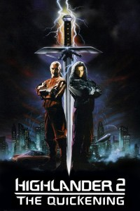 "Poster for the movie ""Highlander II: The Quickening"""