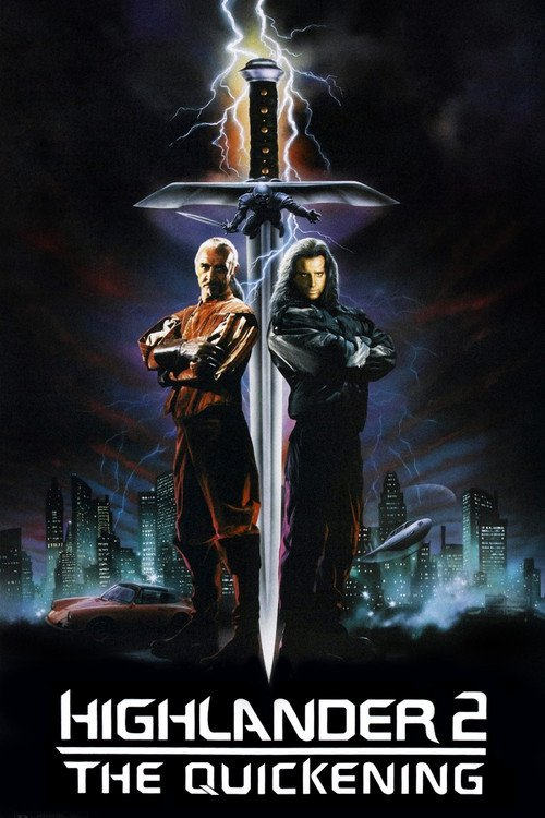 """Poster for the movie """"Highlander II: The Quickening"""""""