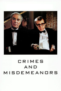 "Poster for the movie ""Crimes and Misdemeanors"""