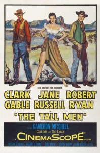 "Poster for the movie ""The Tall Men"""