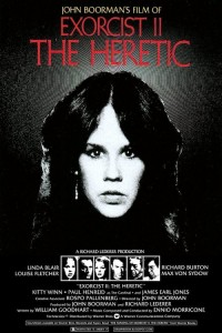 "Poster for the movie ""Exorcist II: The Heretic"""