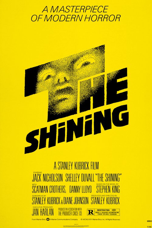 "Poster for the movie ""The Shining"""