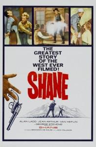 "Poster for the movie ""Shane"""