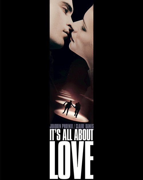 "Poster for the movie ""It's All About Love"""