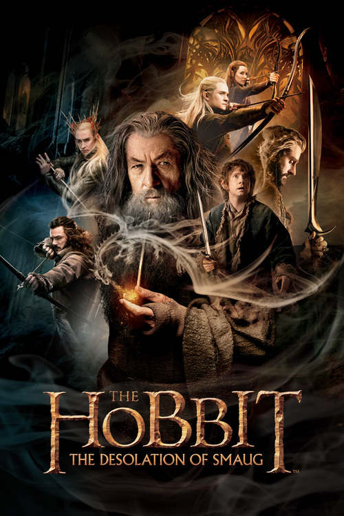 "Poster for the movie ""The Hobbit: The Desolation of Smaug"""