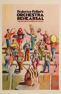 "Poster for the movie ""Orchestra Rehearsal"""