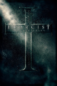 "Poster for the movie ""Exorcist: The Beginning"""