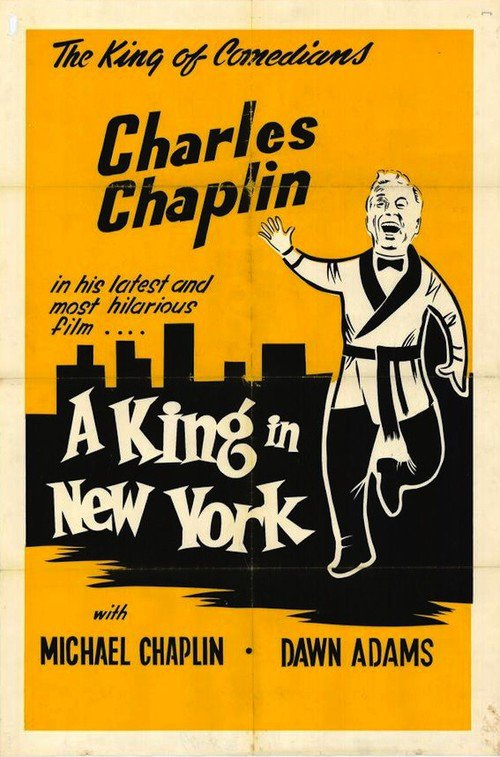 "Poster for the movie ""A King In New York"""