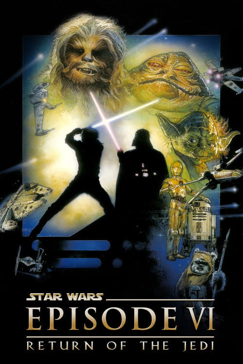 "Poster for the movie ""Star Wars: Episode VI - Return of the Jedi"""