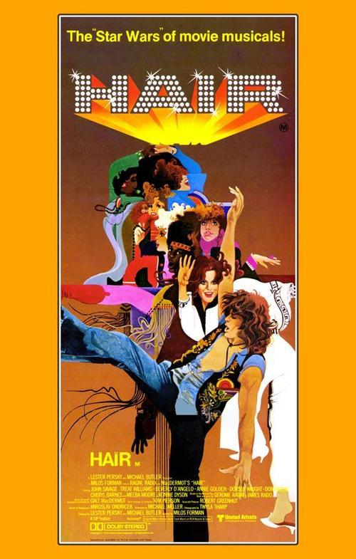 """Poster for the movie """"Hair"""""""