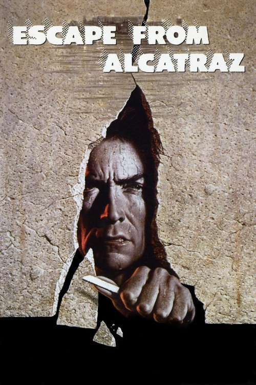 "Poster for the movie ""Escape from Alcatraz"""
