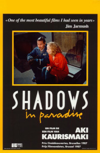 """Poster for the movie """"Shadows in Paradise"""""""