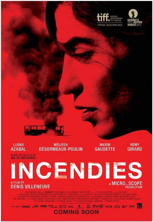 "Poster for the movie ""Incendies"""