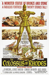 "Poster for the movie ""The Colossus of Rhodes"""