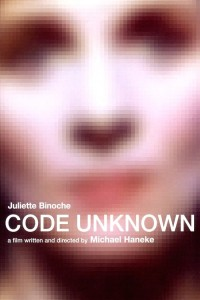 "Poster for the movie ""Code Unknown"""