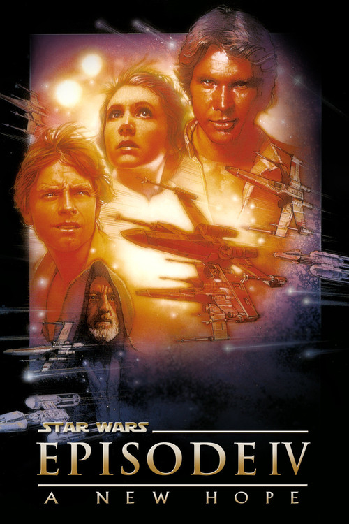 """Poster for the movie """"Star Wars: Episode IV - A New Hope"""""""