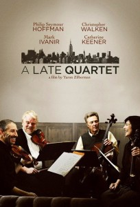 "Poster for the movie ""A Late Quartet"""