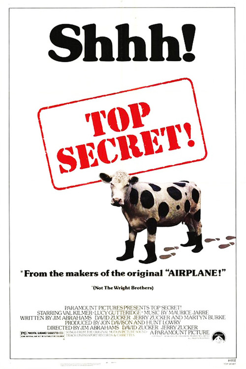 """Poster for the movie """"Top Secret!"""""""