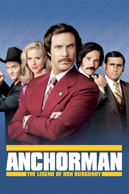 """Poster for the movie """"Anchorman: The Legend of Ron Burgundy"""""""