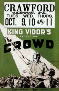 "Poster for the movie ""The Crowd"""
