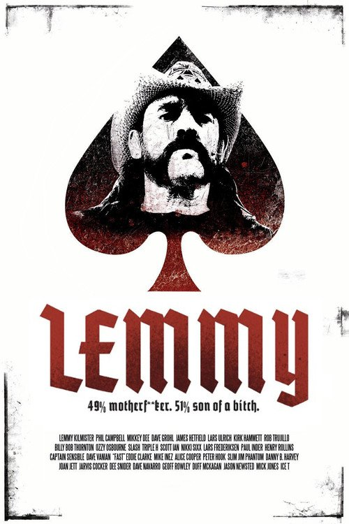 """Poster for the movie """"Lemmy"""""""