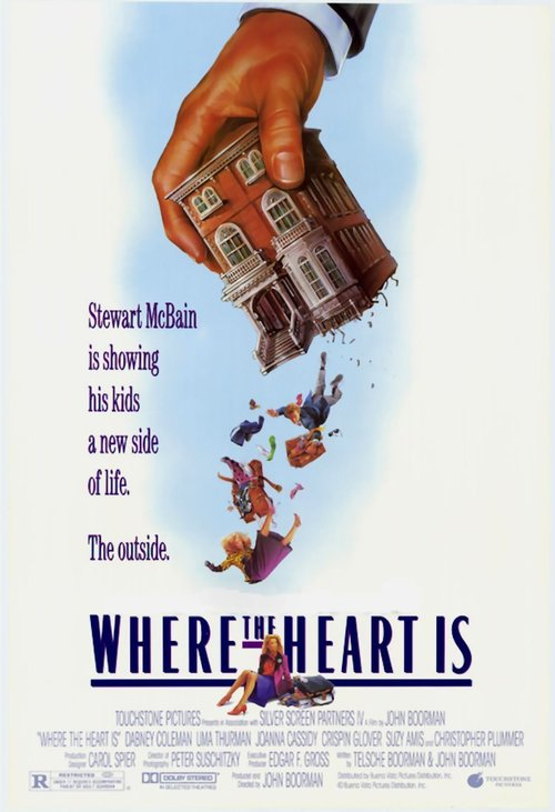 "Poster for the movie ""Where the Heart Is"""