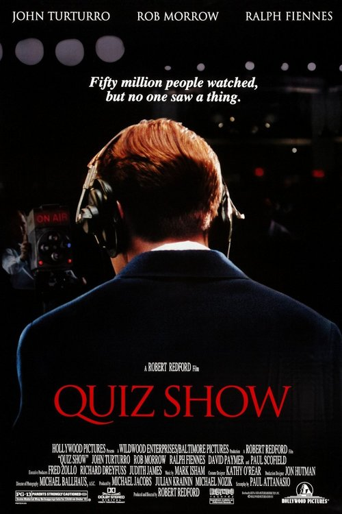 "Poster for the movie ""Quiz Show"""