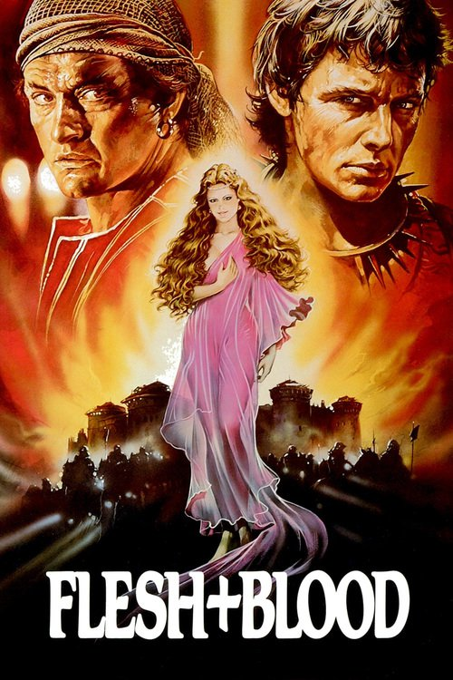 """Poster for the movie """"Flesh + Blood"""""""