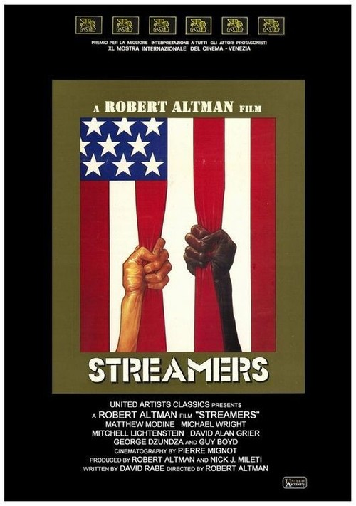 """Poster for the movie """"Streamers"""""""