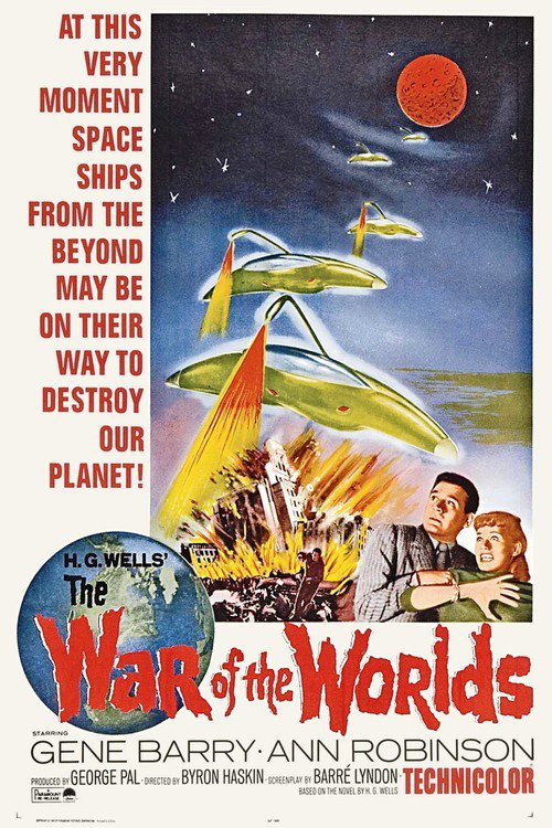 """Poster for the movie """"The War of the Worlds"""""""