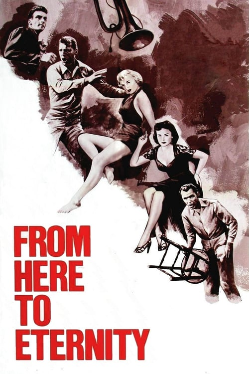 "Poster for the movie ""From Here to Eternity"""