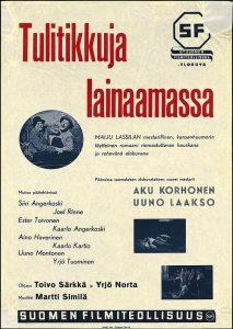 """Poster for the movie """"Tulitikkuja lainaamassa"""""""