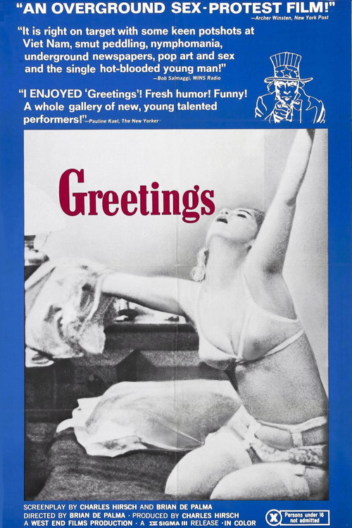 """Poster for the movie """"Greetings"""""""