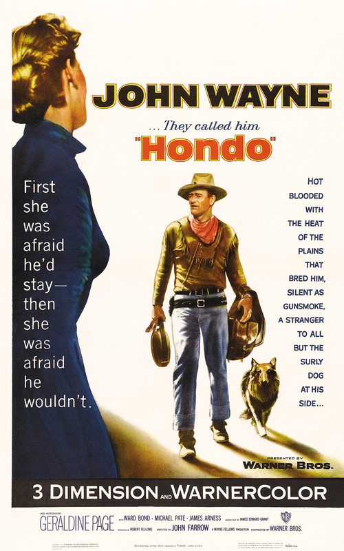 """Poster for the movie """"Hondo"""""""