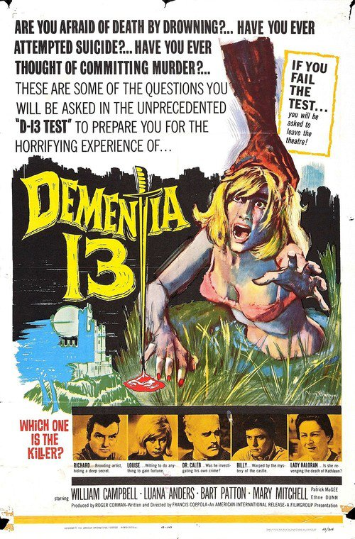 """Poster for the movie """"Dementia 13"""""""