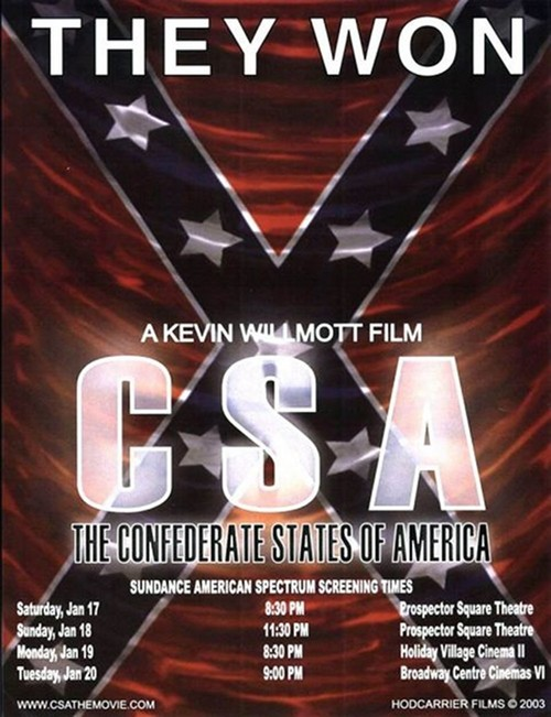 """Poster for the movie """"C.S.A.: The Confederate States of America"""""""