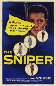 """Poster for the movie """"The Sniper"""""""