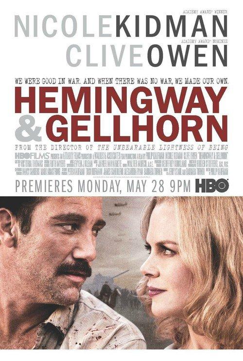 "Poster for the movie ""Hemingway & Gellhorn"""