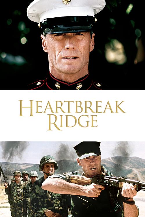"Poster for the movie ""Heartbreak Ridge"""