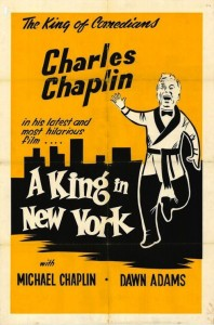 """Poster for the movie """"A King In New York"""""""