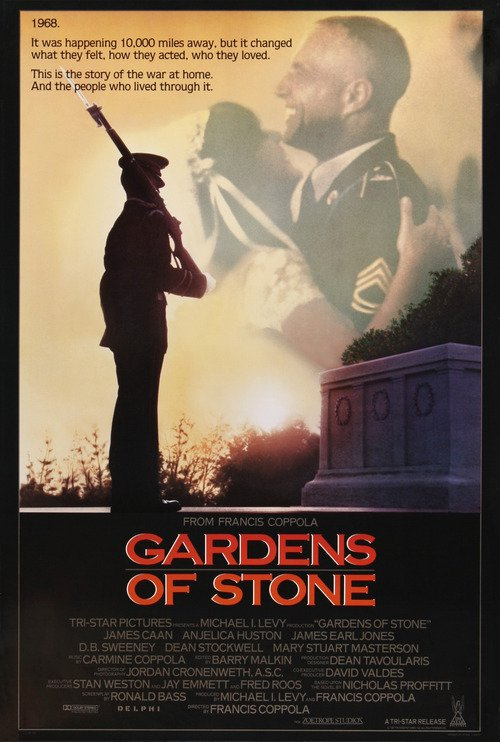"""Poster for the movie """"Gardens of Stone"""""""