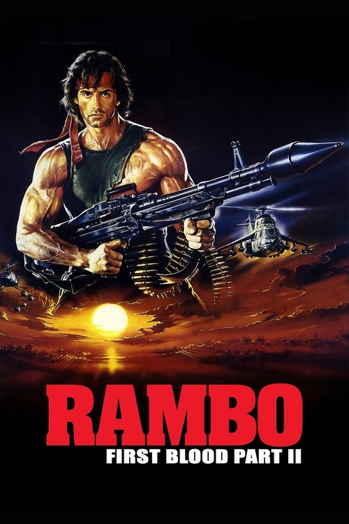 """Poster for the movie """"Rambo: First Blood Part II"""""""