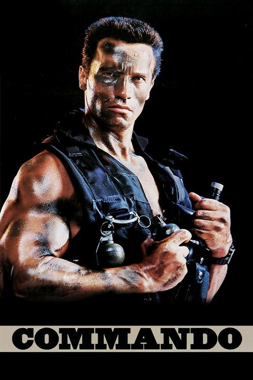 "Poster for the movie ""Commando"""